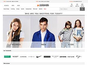 Электронный ресурс Zalando женской и мужской модной одежды, обуви, аксессуаров, спортивного инвентаря и других сопутствующих товаров сезона весна-лето 2017.