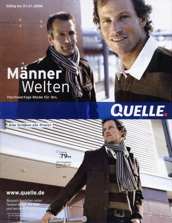 Quelle Manner Welten сезона осень-зима 2007/08. www.